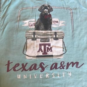 Comfort Colors Tops - Texas A&M T-shirt with dog